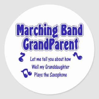 Marching Band Grandparent Saxophone Stickers