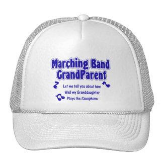 Marching Band Grandparent Saxophone Trucker Hats