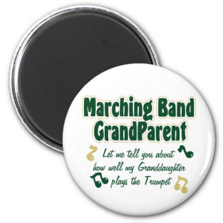 Marching Band Grandparent Trumpet 6 Cm Round Magnet