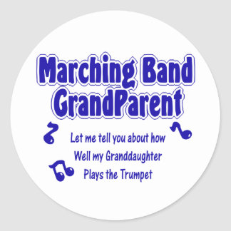 Marching Band Grandparent Trumpet Stickers