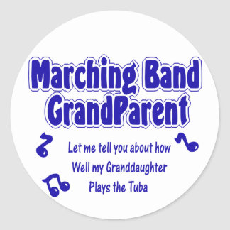 Marching Band Grandparent/ Tuba Round Sticker
