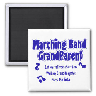 Marching Band Grandparent/ Tuba Square Magnet