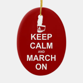Marching Band Keep Calm Personalized Ceramic Ornament