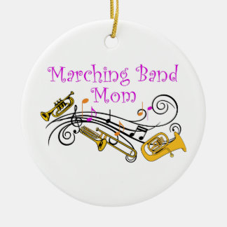 MARCHING BAND MOM CERAMIC ORNAMENT