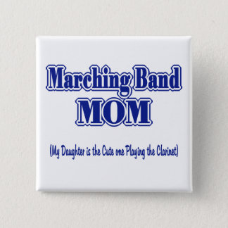 Marching Band Mom/ Clarinet 15 Cm Square Badge