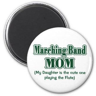 Marching Band Mom Flute Green Fridge Magnet