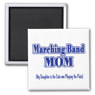 Marching Band Mom/ Flute Square Magnet