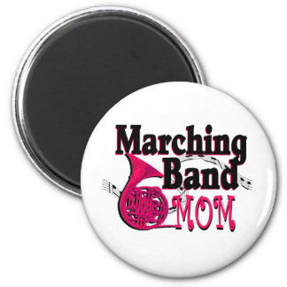 Marching Band Mom/ French Horn 6 Cm Round Magnet