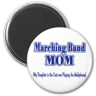 Marching Band Mom/ Mellophone 6 Cm Round Magnet