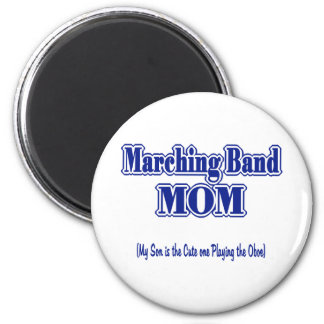 Marching Band Mom/ Oboe 6 Cm Round Magnet