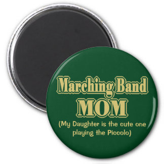 Marching Band Mom Piccolo Green Refrigerator Magnets