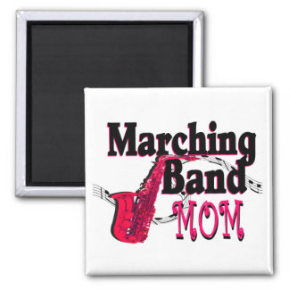 Marching Band Mom/ Saxophone Square Magnet
