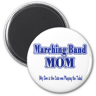 Marching Band Mom/ Tuba 6 Cm Round Magnet