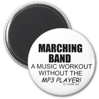Marching Band Music Workout Fridge Magnets