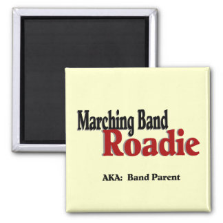 Marching Band Roadie Square Magnet