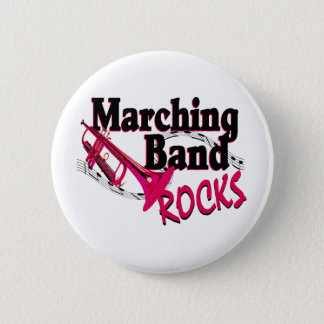Marching Band Rocks 6 Cm Round Badge