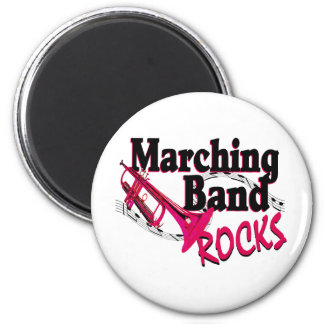 Marching Band Rocks 6 Cm Round Magnet