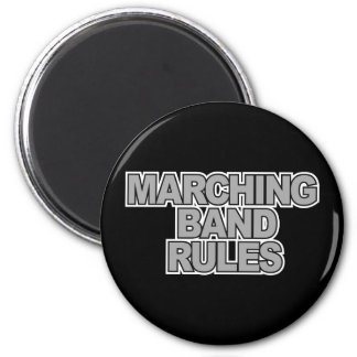 Marching Band Rules 6 Cm Round Magnet