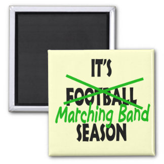Marching Band Season Square Magnet