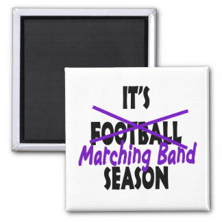 Marching Band Season/ Purple Square Magnet
