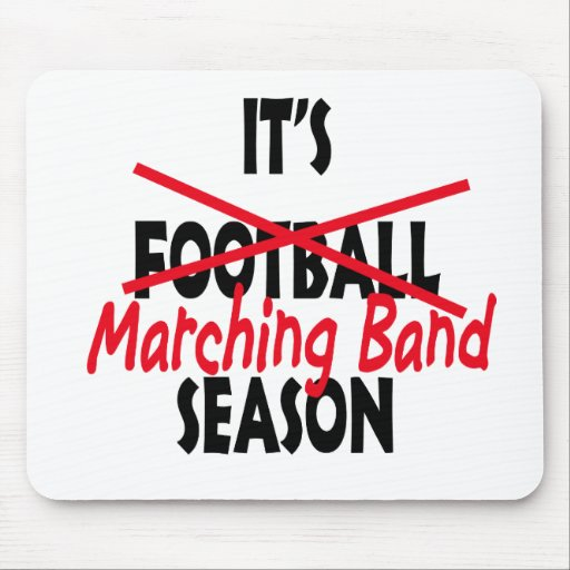 Marching Band Season / Red Mousepads