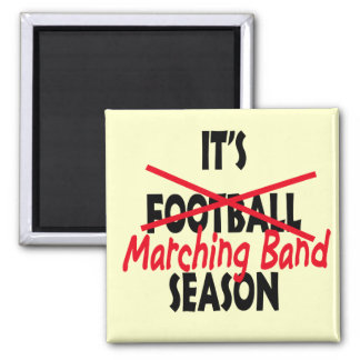 Marching Band Season / Red Square Magnet