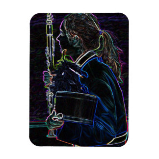 Marching Clarinetist Flexible Magnet