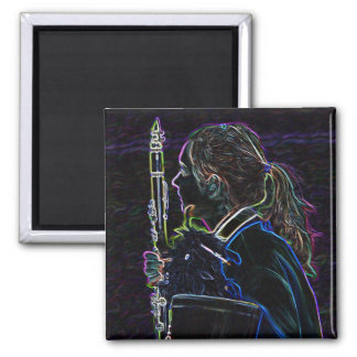 Marching Clarinetist Square Magnet