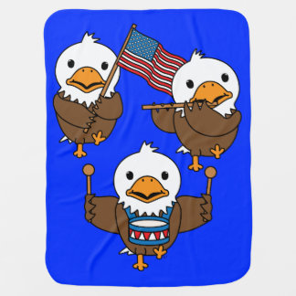 Marching Eagles Baby Blanket