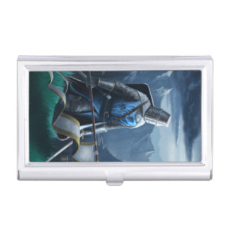Marching Knight business card holder