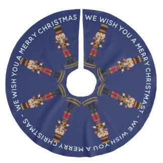 Marching Nutcracker Drummers Merry Christmas Brushed Polyester Tree Skirt