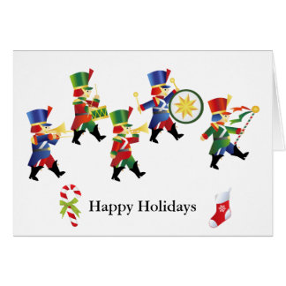 Marching Toy Soldiers Christmas Greeting Card