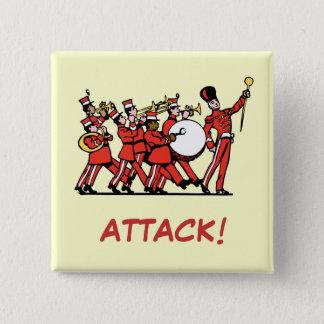 Marching volume 15 cm square badge