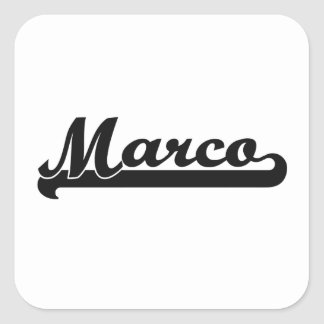 Marco Classic Retro Name Design Square Sticker