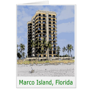 Marco Island Condo with Palm Trees in Front Card