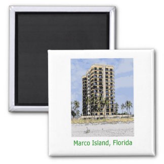 Marco Island, Florida Condo with Palms Magnet