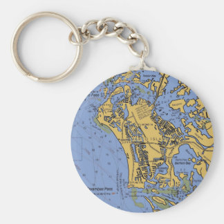 Marco Island, Florida Nautical Chart Keychain