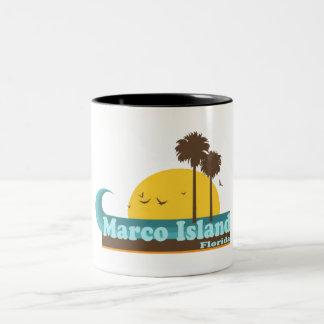 Marco Island. Two-Tone Coffee Mug