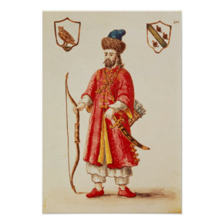 Marco Polo  dressed in Tartar costume Poster