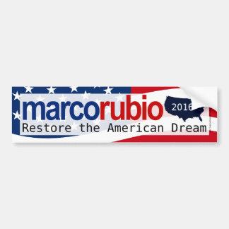 Marco Rubio 2016 American Dream Bumper Sticker