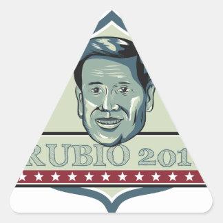 Marco Rubio 2016 Republican Candidate Triangle Sticker