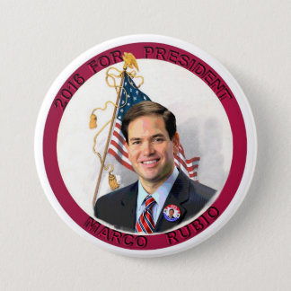 Marco Rubio for President in 2016 7.5 Cm Round Badge
