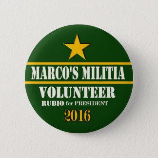 Marco Rubio President 2016 6 Cm Round Badge