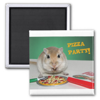 Marco the Gerbil's Pizza Party Magnet