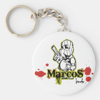 Marcos by BuDu Basic Round Button Key Ring