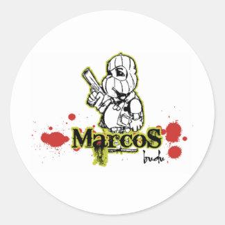 Marcos by BuDu Classic Round Sticker