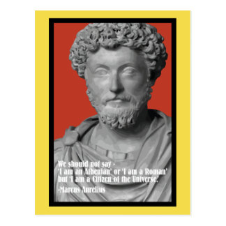 Marcus Aurelius 'Citizen of the universe' postcard