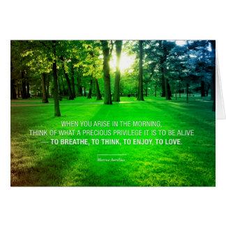Marcus Aurelius Life inspirational quote nature Card