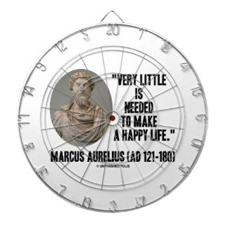 Marcus Aurelius Little Is Needed Make Happy Life Dartboard