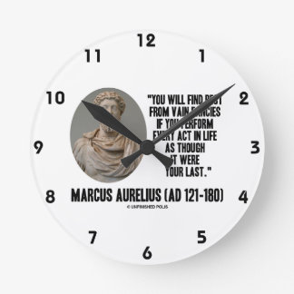 Marcus Aurelius You Will Find Rest Vain Fancies Wallclock